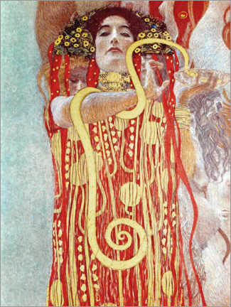 Acrylic print  Hygieia detail from the medicine - Gustav Klimt