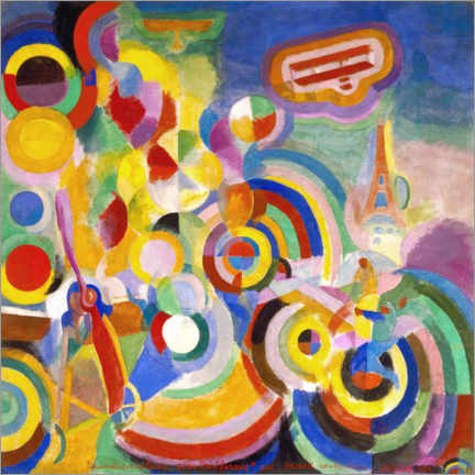 Canvas print  Homage to Blériot - Robert Delaunay