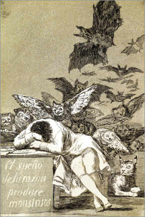 Acrylic print  El sueño de la razón produce monstruos (The sleep of reason gives birth to monsters) - Francisco José de Goya