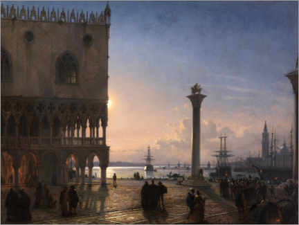 Premium poster  Piazza San Marco by moonlight - Friedrich Nerly