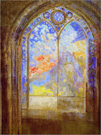 Premium poster  Church window - Odilon Redon