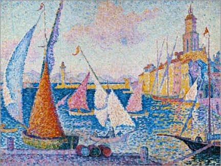 Premium poster Sailing boats in the harbour of Saint Tropez