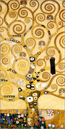 Acrylic print  The tree of life (central panel) - Gustav Klimt