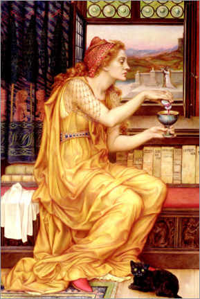 Premium poster  The love potion - Evelyn De Morgan