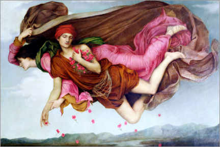Acrylic print  Night and sleep - Evelyn De Morgan