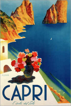 Canvas print  Italy - Summer Island of Capri - Travel Collection