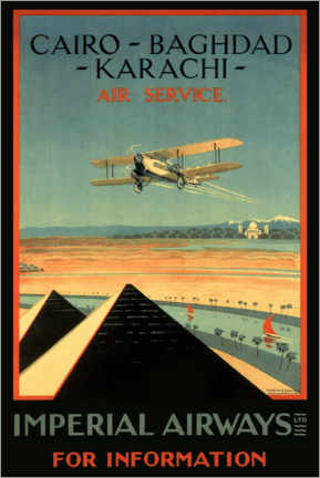 Canvas print  Imperial Airways - Cairo to Karachi - Travel Collection
