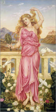 Acrylic print  Helena of Troy - Evelyn De Morgan