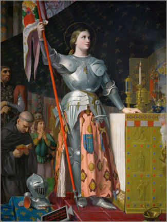Premium poster  Jeanne D'Arc at the coronation of Charles VII. - Jean Auguste Dominique Ingres
