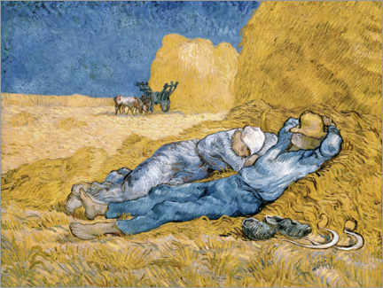 Canvas print  The siesta - Vincent van Gogh
