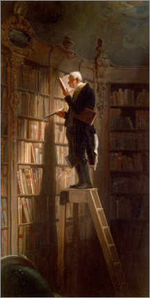 Gallery print  The bookworm - Carl Spitzweg