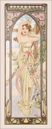 Acrylic print  The Times of the Day - Brightness of the Day - Alfons Mucha
