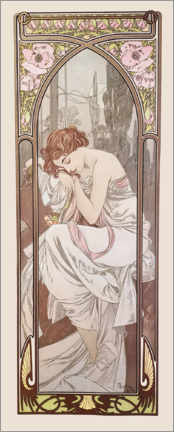 Acrylic print  The Times of the Day - Night's Rest - Alfons Mucha