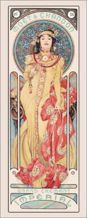 Acrylic print  Moet & Chandon, Grand Cremnant Imperial - Alfons Mucha