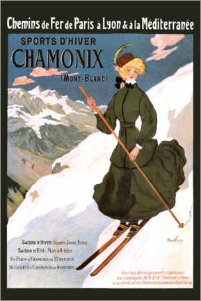 Premium poster  Sports D'Hiver Chamonix (French) - Travel Collection