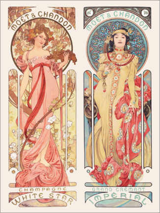 Foam board print  Moet & Chandon - Alfons Mucha