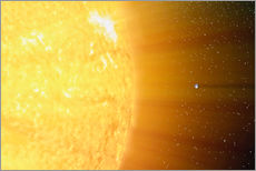 Gallery print  The relative sizes of the Sun and the Earth