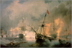 Canvas print  The Battle of Navarino - Ivan Konstantinovich Aivazovsky
