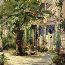 Gallery print  Interior of the Palm House, Potsdam - Carl Blechen