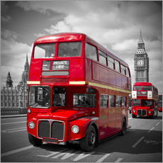 Wall sticker  LONDON Red Buses - Melanie Viola
