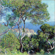 Wood print  Bordighera - Claude Monet