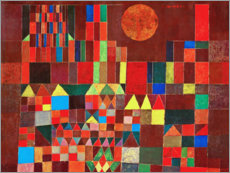 Canvas print  Castle and Sun - Paul Klee