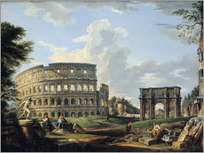 Wall sticker  The Coliseum and the Arch of Constantine - Giovanni Paolo Pannini