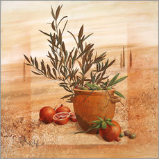 Wall sticker Pomegranate and olive harvest