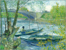 Acrylic print  Angler and boat at the Pont de Clichy - Vincent van Gogh