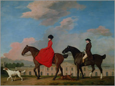 Gallery print  John and Sophia Musters riding at Colwick Hall - George Stubbs