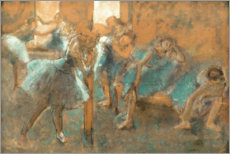 Foam board print  Dancers in rehearsal hall - Edgar Degas