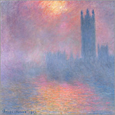 Gallery print  The Houses of Parliament - Claude Monet