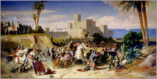 Gallery print  The capture of Beirut by the Crusaders in 1197 - Alexandre-Jean-Baptiste Hesse
