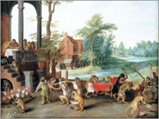 Canvas print  A Satire of the Folly of Tulip Mania - Jan Brueghel d.J.