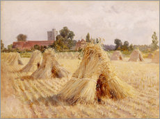 Gallery print  Corn Stooks by Bray Church - Hardy Heywood