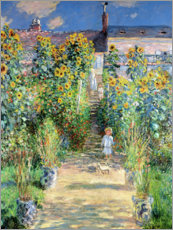 Canvas print  Monet's Garden, Vetheuil - Claude Monet