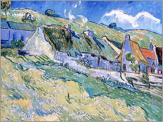 Wood print  Thatched cottages at Auvers-sur-Oise - Vincent van Gogh