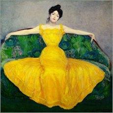 Gallery print  Lady in a yellow dress - Maximilian Kurzweil