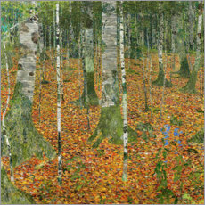 Premium poster  The birch wood - Gustav Klimt