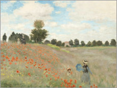 Foam board print  Poppy field at Argenteuil - Claude Monet