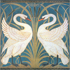 Gallery print  Swan, Rush and Iris - Walter Crane