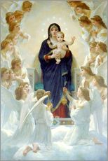 Wall sticker  The Virgin with angels - William Adolphe Bouguereau
