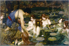 Wall sticker  Nymphs - John William Waterhouse
