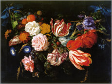 Premium poster  Garland of Flowers and Fruits - Jan Davidsz de Heem