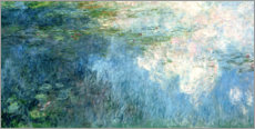 Canvas print  Waterlilies, panel C II. - Claude Monet