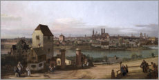 Wall sticker  Munich, seen from Haidhausen - Bernardo Bellotto (Canaletto)