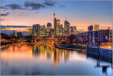 Gallery print  Frankfurt skyline at sunset reflected in the Main - HADYPHOTO
