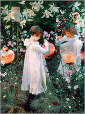 Wall sticker  Carnation, lily, rose - John Singer Sargent