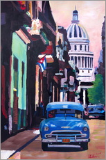 Wall sticker  Cuban Oldtimer Street Scene in Havanna Cuba with Buena Vista Feeling - M. Bleichner