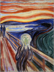 Acrylic print  The scream - Edvard Munch